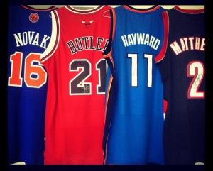 (L-R) MU Players: Steve Novak, Jimmy Butler, Lazar Hayward, Wesley Matthews.